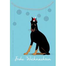 Dobermann frohe Weihnachten