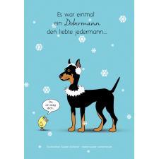 Dobermann Weihnachten Küken