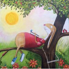 Hase im Baum