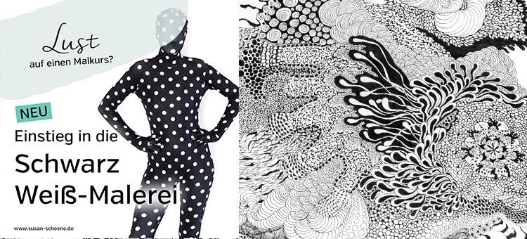 Einstieg in die Schwarz-Weiß-Malerei