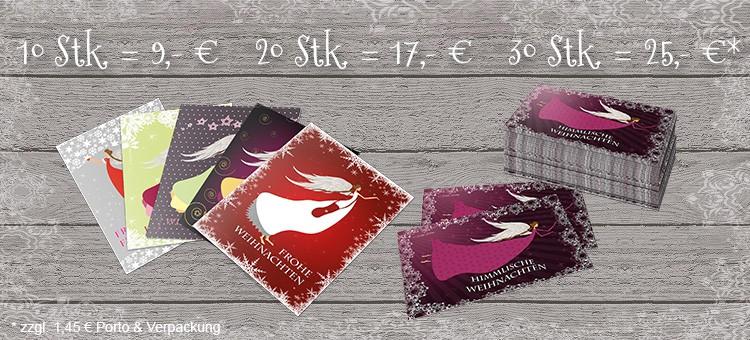 Weihnachtskarten mit verschiedenen Motiven - je 1,- € oder in attraktiven