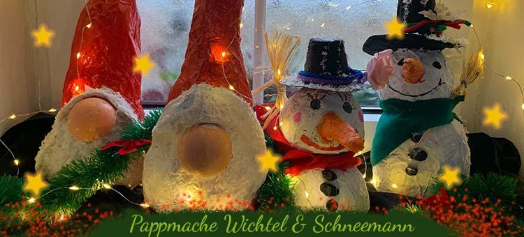 Wichtel und Schneemann für Kinder